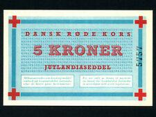 Denmark:5 Kroner,1952 * Red Cross Ship Jutlandia Hospital * Korean War * UNC *