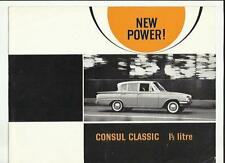 FORD CONSUL CLASSIC SALES BROCHURE AUGUST 1962 FOR 1963