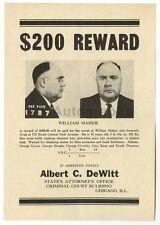 Wanted Notice - William Maher/Fraud - Chicago, Illinois