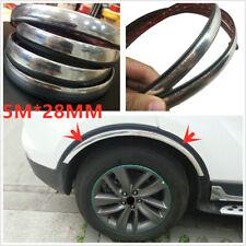 Universal Car Wheel Eyebrow Arch Trim Lips Fender Flares Protector Silver 5m