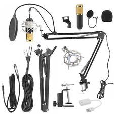 BM800 Professionell Kondensator Mikrofon Kit Komplett Set für Studio Aufnahme NE