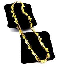 Collar Cadena de Metal Tono Oro Vintage.