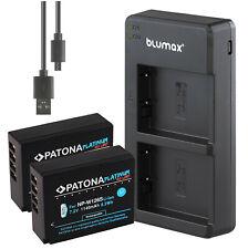 dual-cargador a fuji-película x-t3 Bateria np-w126s 2 unidades patonas para np-w126 1140ma