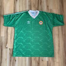 Vintage Adidas Republic of Ireland Soccer Jersey XL Football Shirt 1990-1992 FAI