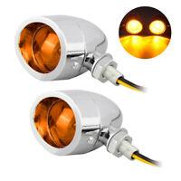 Chrome Motorcycle Bullet Blinker Turn Signal + Brake Stop + Running Tail Lights