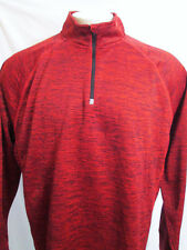 Tek Gear DryTek Mens XX_large 2XL Red Textured Look 1/4 Zip Pullover