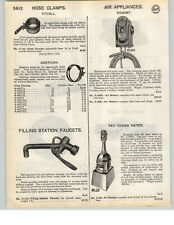 1935 PAPER AD Romort Red Tower Gas Service Station Tire Air Pump Meter