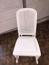 "Vintage Shabby Chic Rocking Chair with a Cane Back 33"" High"