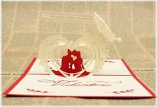 Valentine 3D Pop up greeting card for Celebration Wedding Birthday Invitations