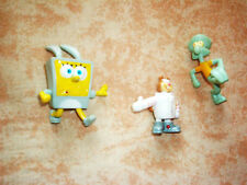 SPONGE BOB TOY FIGURES ,EASTER  BUNNY BOB AND FRIENDS, TWO TO ONE INCH SIZE, !