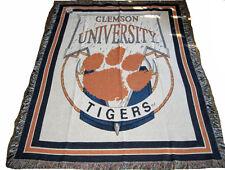 Clemson University Tigers Tapestry Afghan Throw