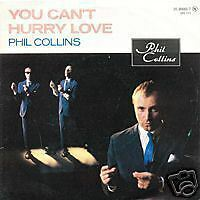 PHIL COLLINS You can't hurry love 45 Tours 2 Titres