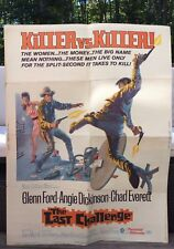 RARE Original Old 1967 Killer vs Killer The Last Challenge Movie Poster 39x29