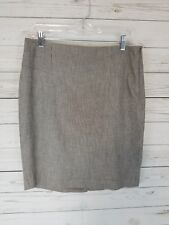 Women's The Limited Collection Brown Pencil Style Skirt Business Work Size 8 EUC