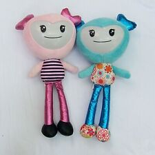 Brightlings Interactive Singing Talking Plush Dolls Set of 2 - Teal & Pink