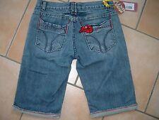 (382) Miss Sixty Girls Jeans Bermuda Hose mit Mund Aufnäher & Stahl Logo gr.146