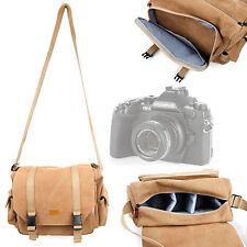 Tan Carry Bag for Olympus Om-D Em-1 / Om-De-M5 Micro / Pen E-P5