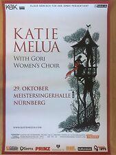 Katie Melua 2016 Nuremberg + + Orig. Concert Poster -- CONCERT AFFICHE a1 NEUF
