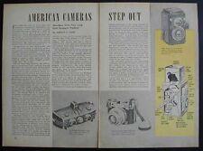Haneel Ansco Medalist Camera Review 1946 Pictorial
