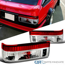 For Toyota 83-87 Corolla AE86 Hatchback Red Clear Tail Lights Brake Rear Lamps