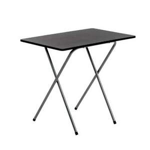 Small Wooden Folding Desk Space Saving Up Black Table Home Office Fold Away