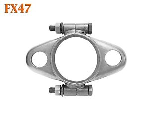 "FX47 2 1/8"" 2.125"" ID Exhaust Flange Formed Oval Side Split Repair Replacement"