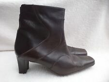 Ladies Moshulu Colours Brown Leather Ankle Boots Size 41/UK 7