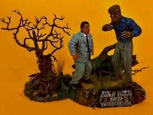 Aurora Monster Scenes Scale Wolf man n Scared Wilbur meets Frankenstein resin