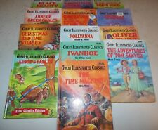Great Illustrated Classics 13 Hardcover Book Lot Christmas Green Gables Aesop