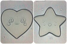 Flexible Resin Mold Small Kawaii Star & Heart Shape Set of 2