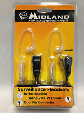 Midland AVPH3 AVP-H3 Security Surveillance Headsets for Midland Radio (One Pair)