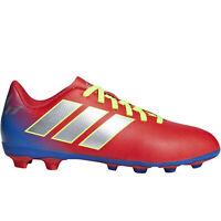 adidas Performance Boys Kids Nemeziz Messi 18.4 FxG Football Boots - Red