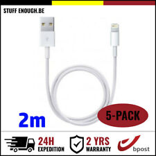 5IN1 2M IPHONE LIGHTNING CHARGEUR CHARGER CHARGING CABLE IPHONE 5 6 7 8 X IPAD