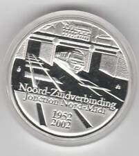 België 10 euro 2002 Proof zilver PP: Noord-zuid verbinding Brussel