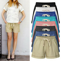 Women Hot Pants Summer Casual Loose Shorts Plus Size High Waist Short Trousers