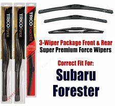 Wiper Blades Trico 3-Pack Front/Rear fits 2014+ Subaru Forester - 25260/170/14b