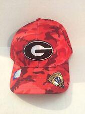 107773a637b Georgia Bulldogs Top of the World Gulf Camo Stretch fit hat M L Red