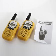 2 * T-388 Walkie Talkie 22 Channels 5KM Two-way Radios Yellow