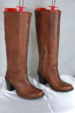 FIORENTINI+ BAKER WOMEN BIKER RIDING LEATHER TALL BOOTS EU 36 US 6 MADE IN ITALY