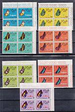 SOMALIA INDIPENDENTE QUARTINA 1961 SERIE 7V. NUOVI MNH ** FARFALLE YVERT A 8-14