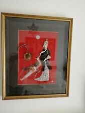 More details for fabulous vintage seashell collage titled / the princess and peacock