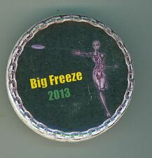Disc Golf Club Event Pinback Button Big Freeze 2013