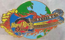 Hard Rock Cafe BEIJING 2001 HRC 30th Anniversary PIN Flaming Guitar Globe #1139