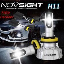 NOVSIGHT 50W 10000LM H11 H8 H9 LED Headlight Bulb Conversion Kit Flicker Decoder
