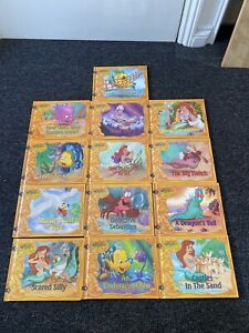 The Little Mermaid's Treasure Chest Bundle of 13 Hardcover Children's Story Book