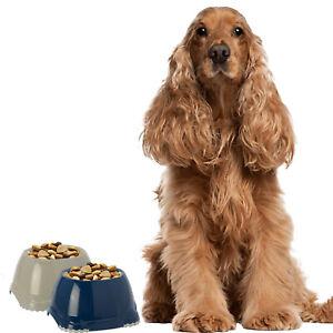 Spaniel Bowls Set Dog Dishes Puppy Non Slip Pet Food Water 2x 0.6L DogCentre®