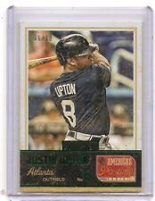 2013 Panini America's Pastime Justin Upton Green Insert Card /10 Atlanta