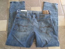 NEW AMERICAN EAGLE ORIGINAL STRAIGHT FLEX 4 JEANS MENS 34X34 MED DESTROY FREE SH