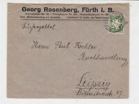 Germany Bavaria 1920 to Leipzig Stamps Cover Ref 31816
