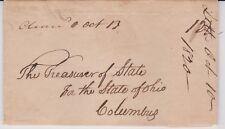 "OHIO ""Cleavd O Oct 13"" Manuscript 1820 Folded Letter Cleveland to Columbus RARE"